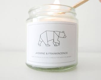 Jasmine + Frankincense Hand-poured Soy Candle