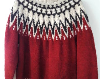 REDUCED Vintage Handmade Sweater 100% Wool Made In Denmark