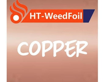 HT WeedFoil Heat Transfer Vinyl - Iron On - HTV - Copper Foil