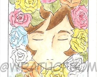 Devilman Crybaby Miki Makimura Fan Art Artist Trading Card