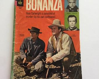 1964 BONANZA Vintage Comic Book Little Joe Hoss Pondarosa Cowboys