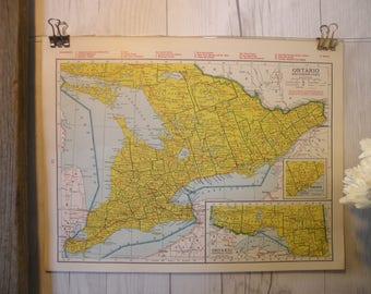 Ontario Map Etsy - Ontario map