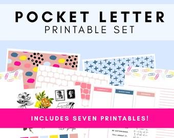 Pocket Letter Printable Set