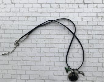 Silver Green Arrow Charm Necklace, Oliver Queen Necklace