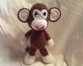 Amigurumi Monkey! All Handmade Ready To Ship