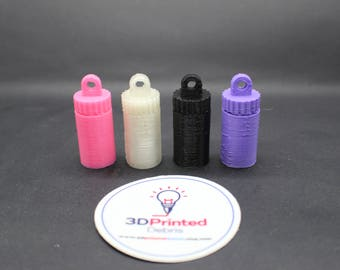 Keychain Pill Bottle for Emergency, Essential, or Recreational pills
