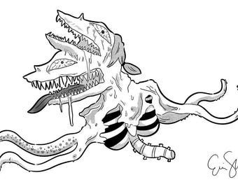 Stranger Creature Print