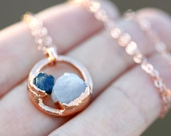 His and Hers Birthstone Necklace