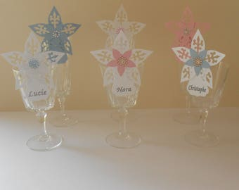 Place cards * star for christening - wedding - Communion - birthday *.