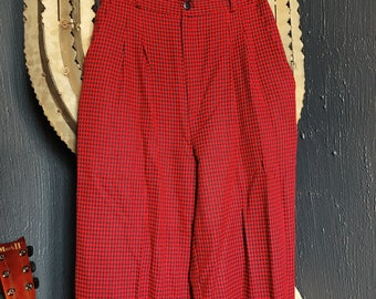 Red + Black Gingham Trousers