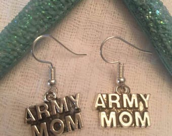 Army Mom Earrings,Army Mom,Army,Military Jewelry