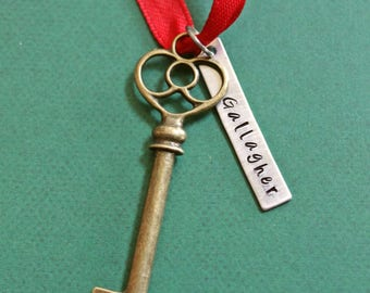 Santa Key  Santa's Magic Key Santa Claus Key Personalized Gift Christmas Key Gift from Grandparent Key Ornament No Chimney Key Santa Claus