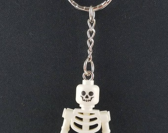 Skeleton Mini Figure Handmade Keychain