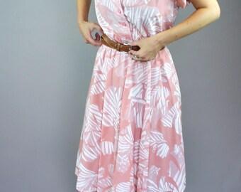 80's Vintage Coral Summer Dress