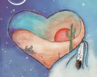 Desert Heart Greeting Card