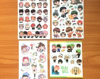 BTS Fanart Stickers | Free Shipping