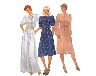 Vogue 8229, sewing pattern, size 12 women's flared dress, midi dress, puffy sleeves