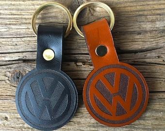 Leather VW Keyring
