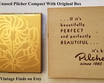 Vintage Pilcher Compact Unused Condition With Original Box!