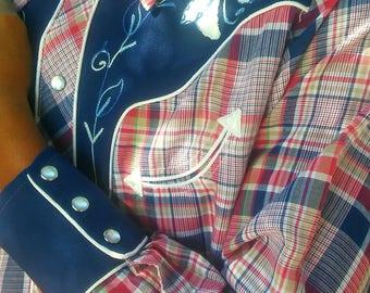 25% OFF H BAR C Western Clothing for Men // Vintage Ranchwear Men's Shirt // Long Sleeve Button Down // Hillbilly //