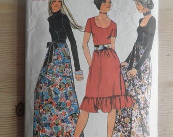 1970's dress sewing pattern, Simplicity 9602, 1970's evening dress