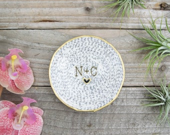 Initials Magazine Ring Dish | Engagement Gift | Catchall | Custom Name | Trinket Dish | Ring Holder | Bridesmaid Gift | Jewelry Dish
