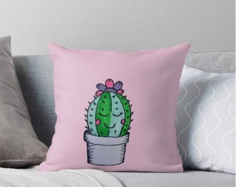 Nursery throw pillow, nursery pillow girl, girl throw pillow, cactus pillow, cactus nursery, throw pillow nursery, girl cactus, cactus decor