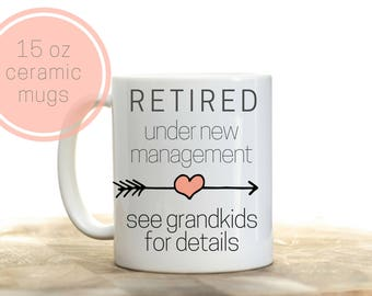 Retirement gift for grandma, Full Time Grandma, Retirement Gifts for Women, Retirement mug, Retirement Coffee Mug, Retirement gift ideas