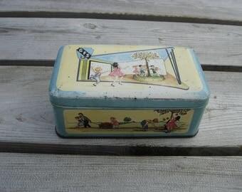 Boite à gâteaux en tôle lithographiée GFS J. SCHUYBROEK sirop de liège. Vintage. Belgique