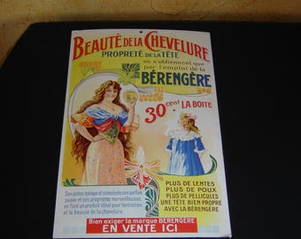 Old french advertising. Bérengère Soins cheveux.  Pub. Collection. France