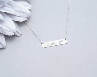 German Shepherd Necklace, Shepherd Pendant, German Shepherd Gift, Dog Lover Necklace, Dog Necklace, Dog Jewelry Charm
