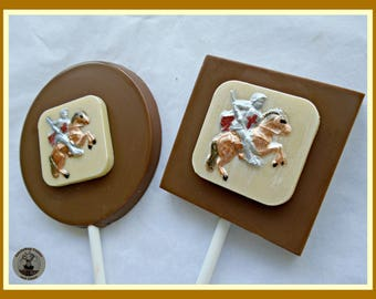 Medieval Knight Chocolate Lollipops/Metal Armour/Suit of Armour/Sword/Castle/Middle Ages/King Arthur/Boys Birthday/Son/Dad/Brother/History