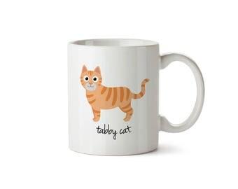 Tabby Cat Mug (orange)