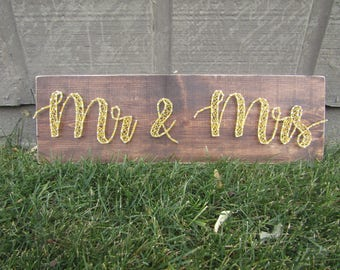 Mr & Mrs String Art *Made-to-Order*