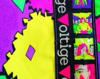 VOLTIGE FRANCE • Vintage sport trousers • 40 • Sportswear • colorful • 80s • Vintage trousers