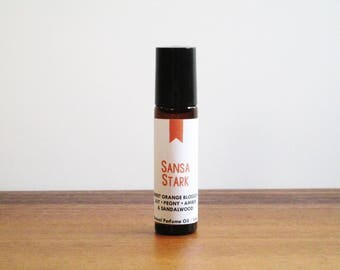SANSA STARK / Orange Blossom Lily Peony Amber Sandalwood / Book Inspired / Game of Thrones Collection / Roll-On Perfume Oil