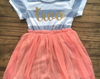 Two Cute Tutu Birthday Dress
