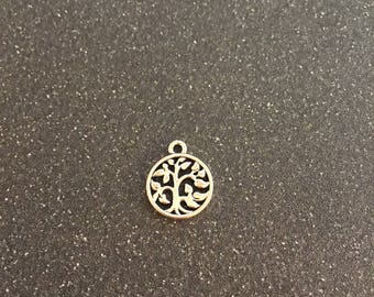 Tree of Life double sided charm, miniature charm