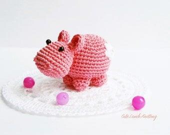 Crochet Hippo crochet security blanket crochet lovey