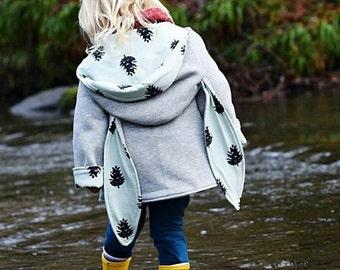 Mint pinecone Bunny Ear Coat, Kidswear, Baby Clothes, JMW Kids, Toddler, Baby girl, Winter coat, rabbit coat, autumn coat, bunny coat
