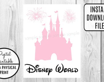 Disney Disney World Castle Vacation - Mickey Mouse Birthday Iron On Shirt Transfer - tshirt - Instant Download