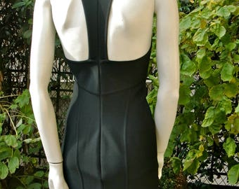 HERVE LEGER 1990 Black Bodycon Dress