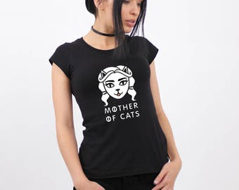Mother of Cats Shirt, Daenerys shirt, Mother of Cats, Cat Tee, Mother of Dragons Shirt, Games Shirt, Game of Thrones, Gift for Mom, GoT Tee.