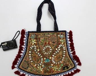 Handmade Ethnic Designer Tribal Banjara Patchwork Embroidered Hippy Fashionable Stylish Trendy Hippie Gypsy Boho Bohemian Fancy Bag G287