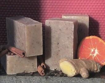 Chai Tea Organic Soap - Essential Oil - Ginger, Orange, Cinnamon, Clove, Nutmeg, Cardamom - All Natural - Cold Process Soap - Spice - Autumn