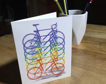 Rainbow Bicycle Cards - Perfect for Celebrating Pride