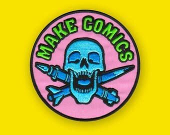 MAKE COMICS - Comic Book Artist Embroidered Patch