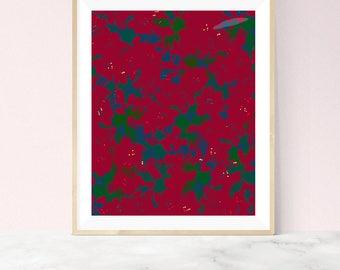 Azalea Floral Art Print, Floral Wall Art, Azalea Flowers