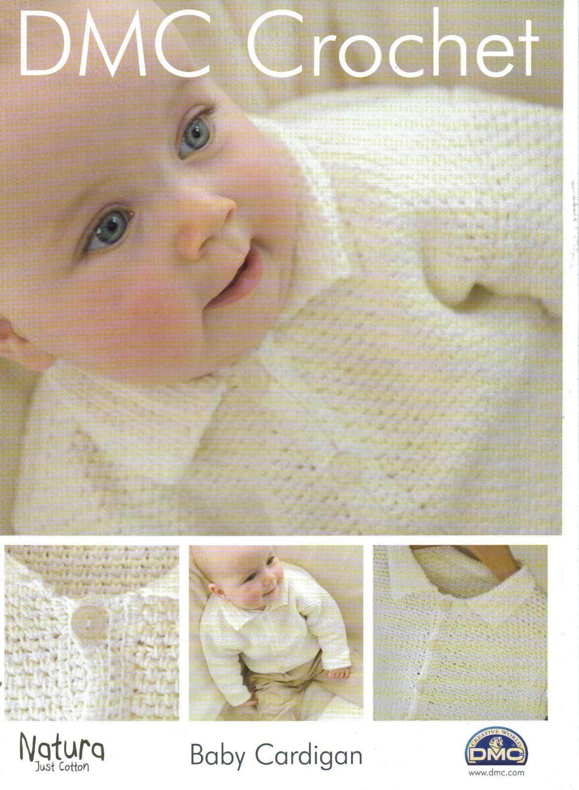 DMC Häkelmuster Baby Strickjacke Muster von hand gehäkelt