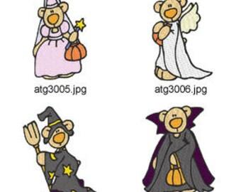 Halloween-Boo-Bears ( 7 Machine Embroidery Designs from ATW ) XYZ17I